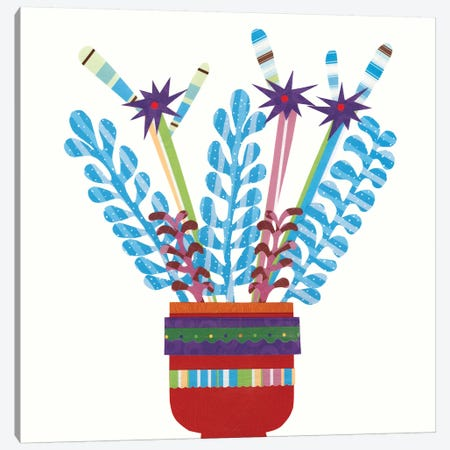 Cheerful Succulent IV Canvas Print #REG13} by Regina Moore Canvas Print
