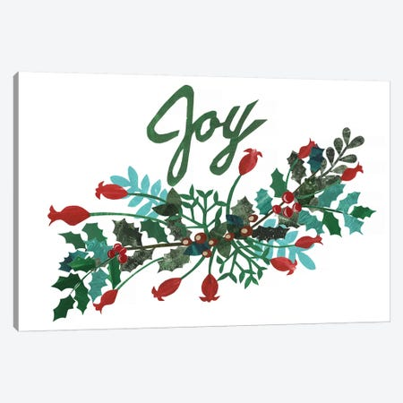 Cut Wreath Christmas I Canvas Print #REG145} by Regina Moore Canvas Wall Art