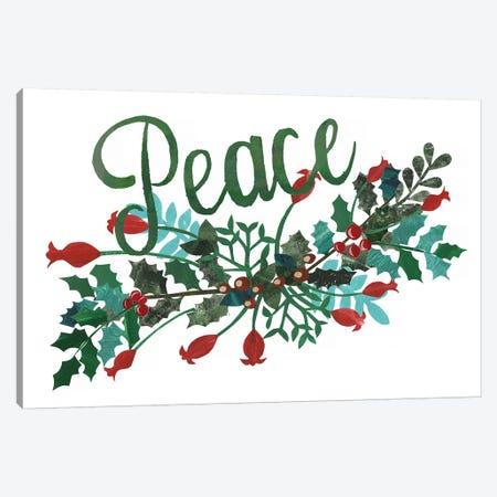 Cut Wreath Christmas II Canvas Print #REG146} by Regina Moore Canvas Art