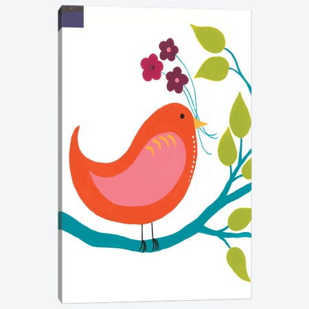 Cute Bird I Canvas Print #REG147} by Regina Moore Canvas Art