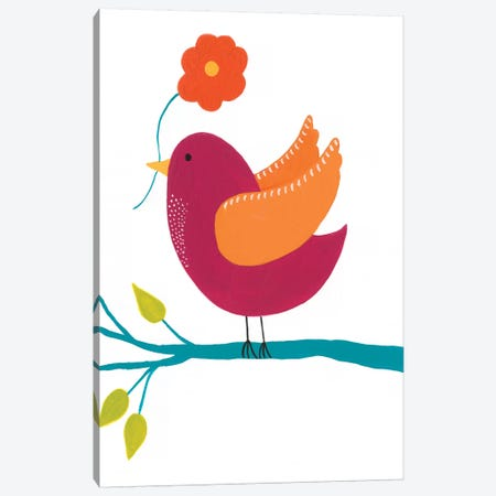 Cute Bird II Canvas Print #REG148} by Regina Moore Canvas Print