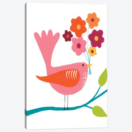 Cute Bird III Canvas Print #REG149} by Regina Moore Canvas Art Print