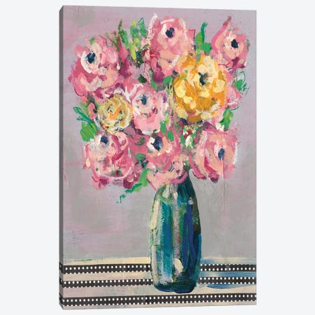 Feisty Floral I Canvas Print #REG153} by Regina Moore Canvas Wall Art