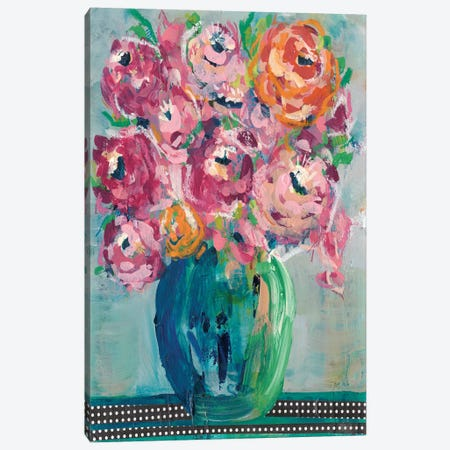 Feisty Floral II Canvas Print #REG154} by Regina Moore Art Print