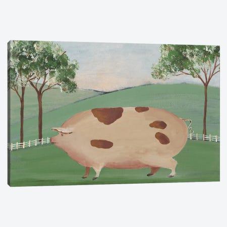 Folk Farm III Canvas Print #REG162} by Regina Moore Art Print