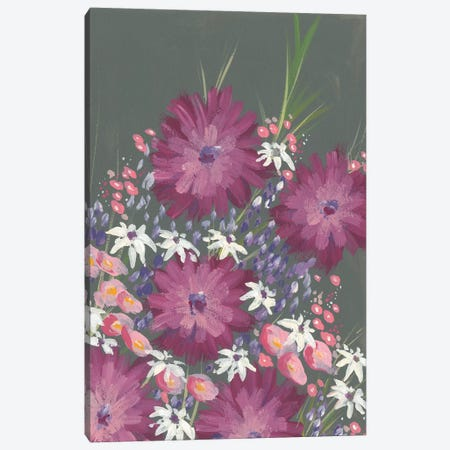 Mauve Wildflower Garden I Canvas Print #REG167} by Regina Moore Canvas Wall Art