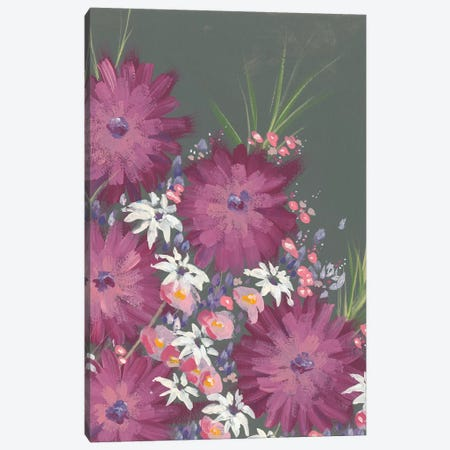 Mauve Wildflower Garden II Canvas Print #REG168} by Regina Moore Art Print