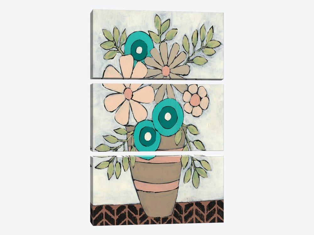 Mid Summer Bouquet I by Regina Moore 3-piece Canvas Art Print