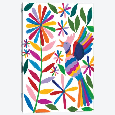 Otomi Bird II Canvas Print #REG175} by Regina Moore Canvas Print