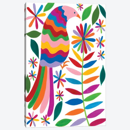 Otomi Bird IV Canvas Print #REG177} by Regina Moore Canvas Print