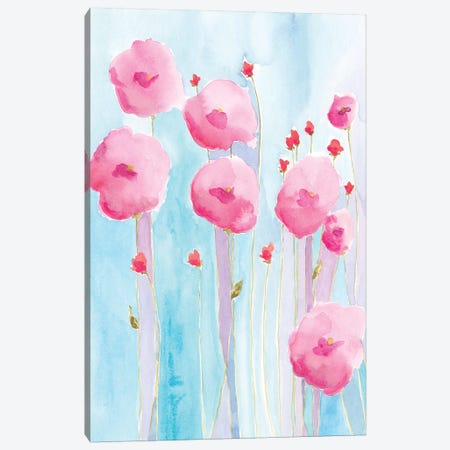 Pink Florets II Canvas Print #REG179} by Regina Moore Canvas Wall Art