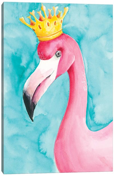 Flamingo Queen I Canvas Art Print