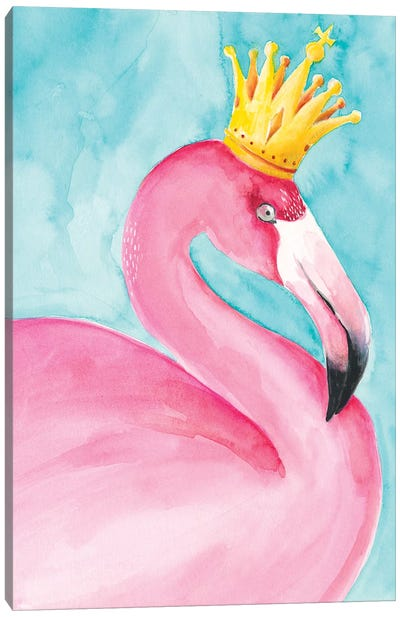 Flamingo Queen II Canvas Art Print