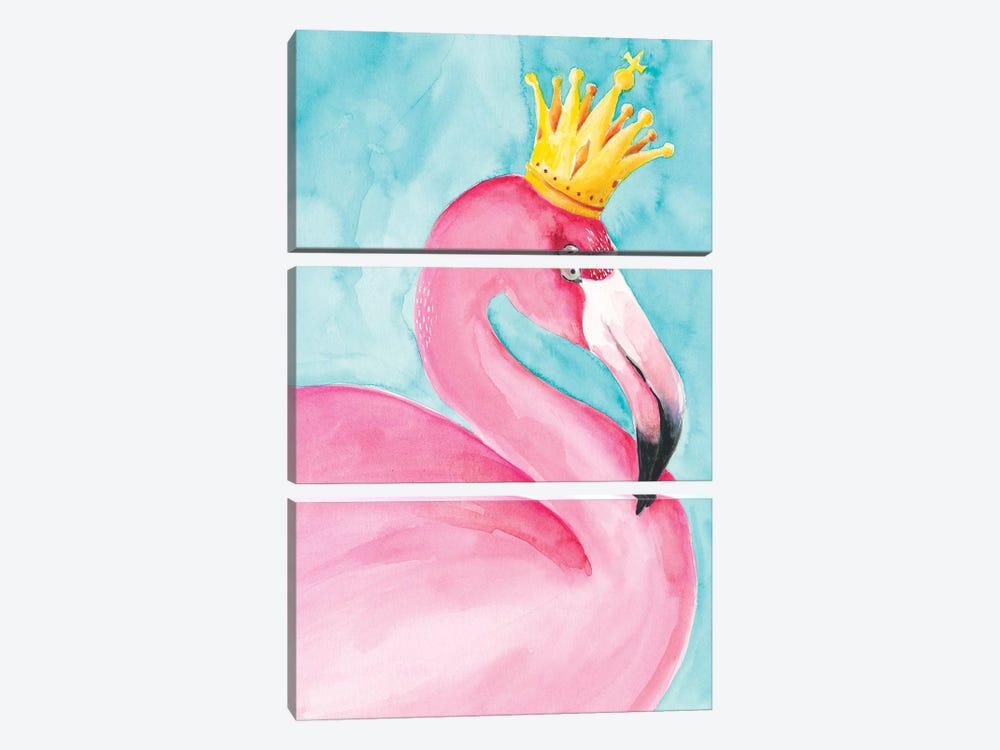 Flamingo Queen II by Regina Moore 3-piece Canvas Print