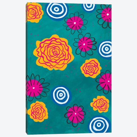 Flower Pop I Canvas Print #REG18} by Regina Moore Canvas Print
