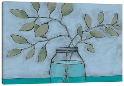 Jar of Stems II Canvas Art Print