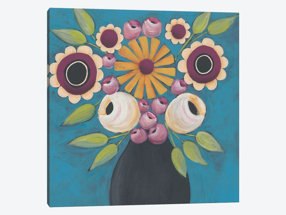 Flowers Galore I by Regina Moore 1-piece Canvas Wall Art