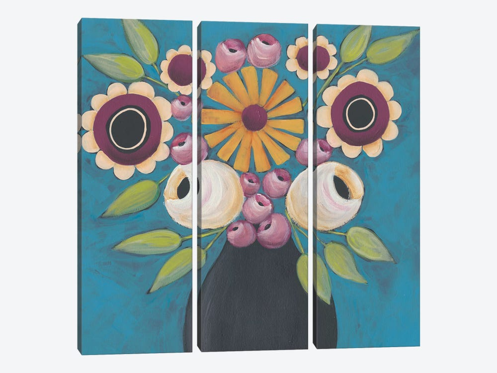 Flowers Galore I by Regina Moore 3-piece Canvas Wall Art