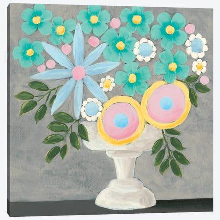 Nouveau Flowers I Canvas Print #REG208} by Regina Moore Canvas Artwork