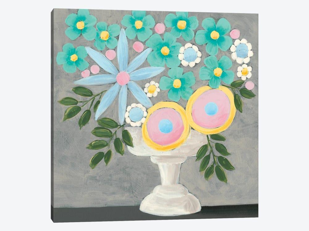 Nouveau Flowers I by Regina Moore 1-piece Canvas Wall Art