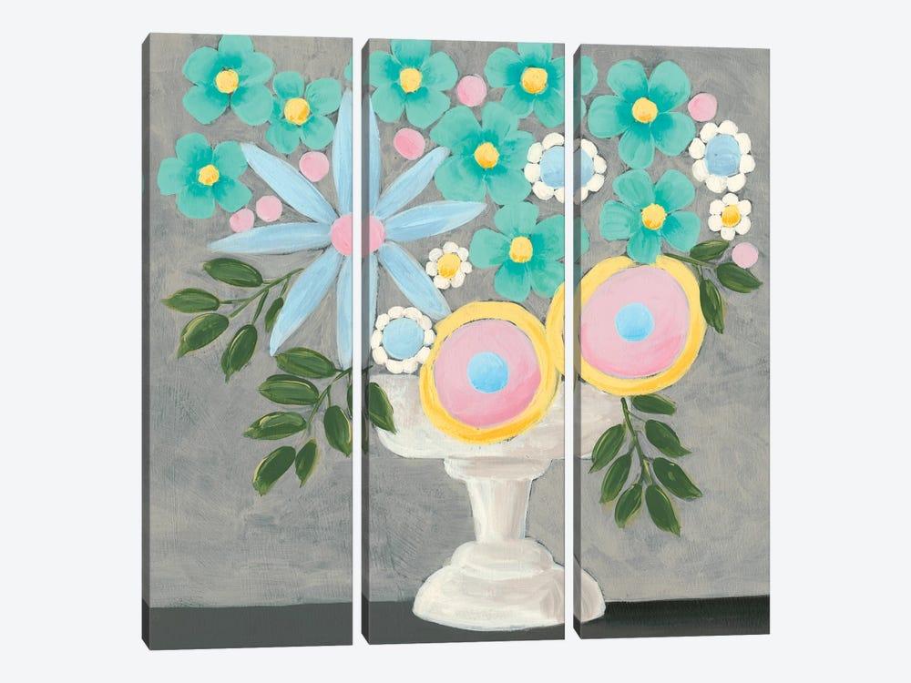 Nouveau Flowers I by Regina Moore 3-piece Canvas Wall Art