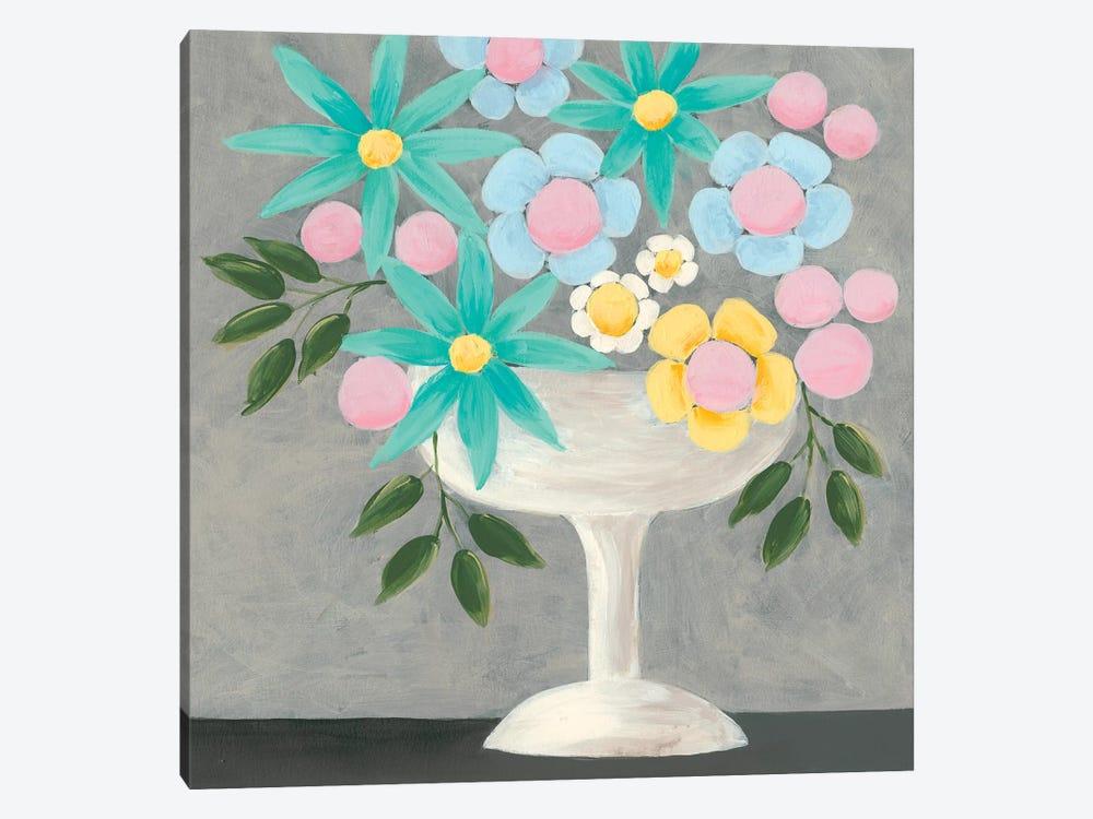 Nouveau Flowers II by Regina Moore 1-piece Canvas Print