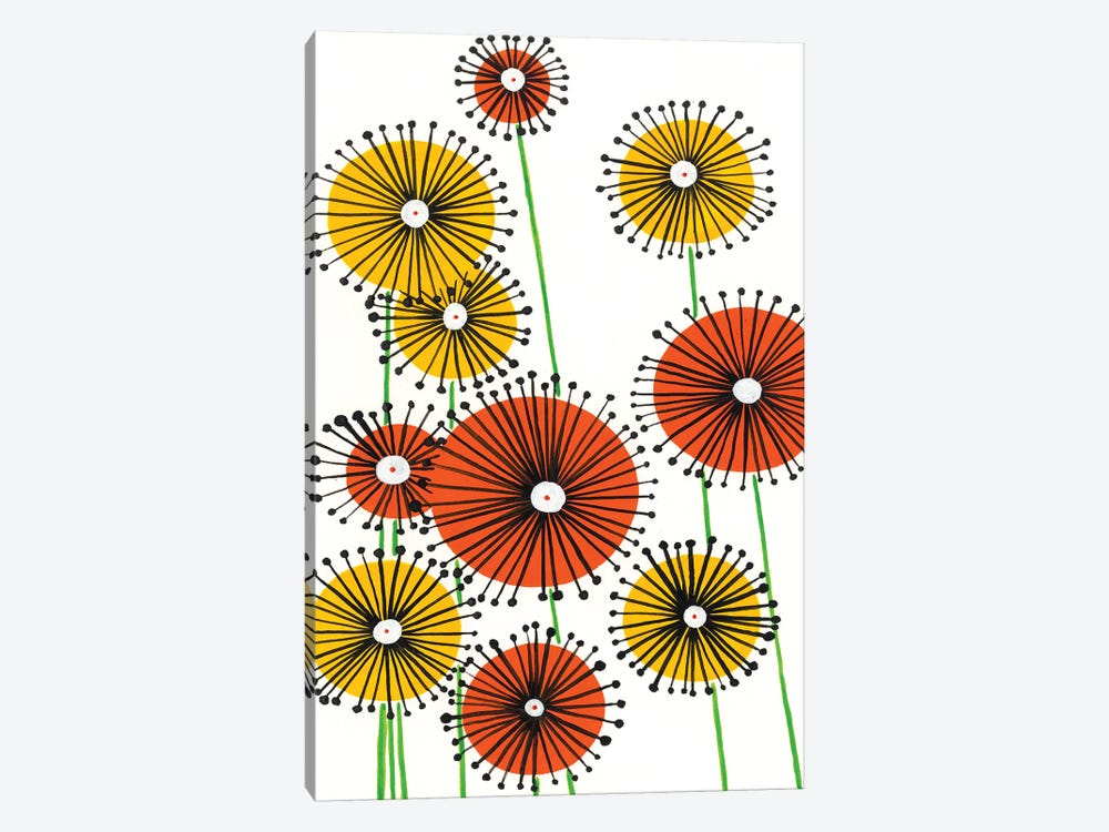 Flower Wheels I by Regina Moore 1-piece Canvas Wall Art