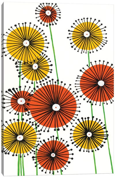 Flower Wheels I Canvas Art Print