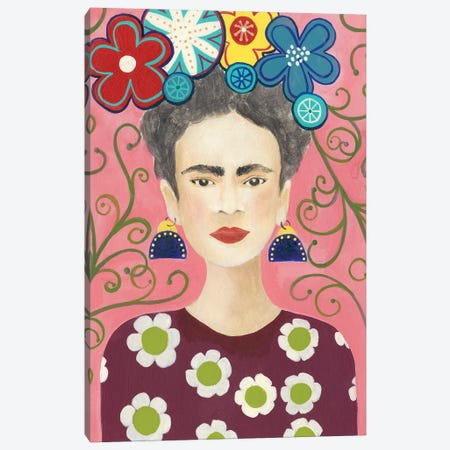 Frida Floral I Canvas Print #REG217} by Regina Moore Canvas Art