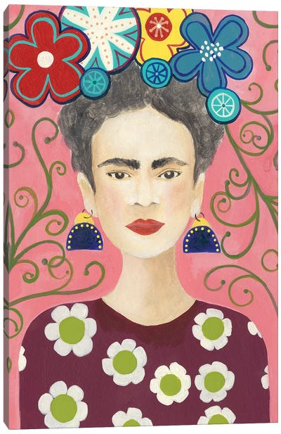 Frida Floral I Canvas Art Print