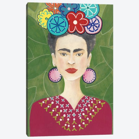 Frida Floral II Canvas Print #REG218} by Regina Moore Canvas Art Print