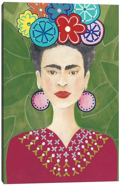 Frida Floral II Canvas Art Print