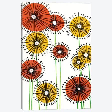 Flower Wheels II Canvas Print #REG21} by Regina Moore Canvas Artwork