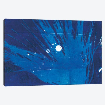 Indigo Burst I Canvas Print #REG22} by Regina Moore Canvas Art