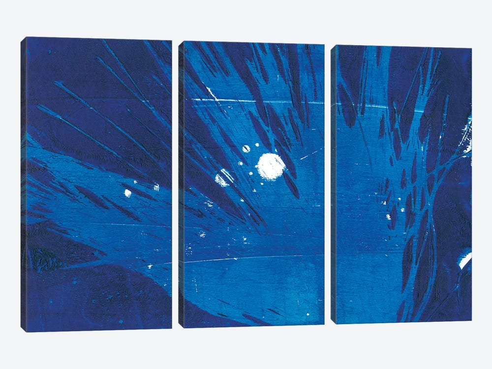 Indigo Burst I by Regina Moore 3-piece Canvas Art