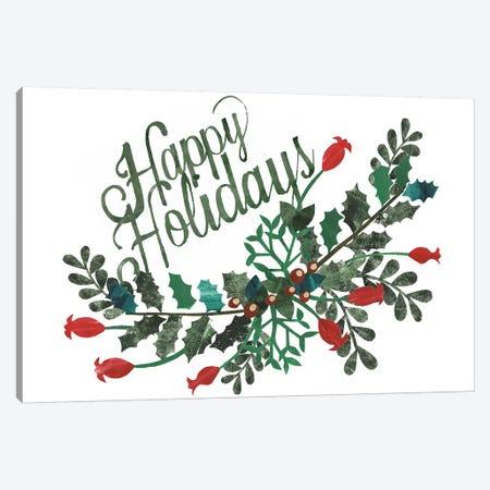 Cut Wreath Christmas Collection A Canvas Print #REG249} by Regina Moore Canvas Art
