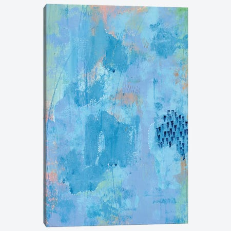 Colored Bleu I Canvas Print #REG260} by Regina Moore Canvas Art