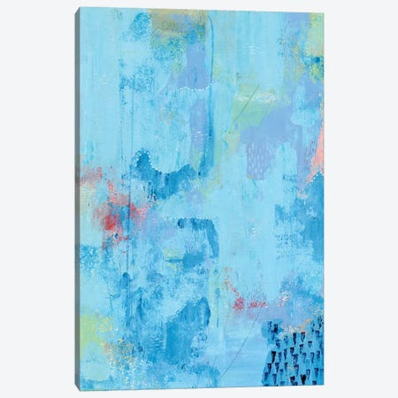 Colored Bleu II Canvas Print #REG261} by Regina Moore Canvas Artwork