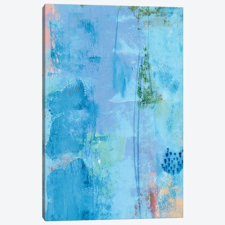 Colored Bleu III Canvas Print #REG262} by Regina Moore Canvas Wall Art