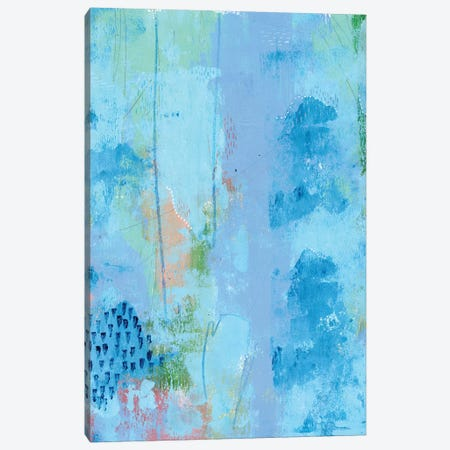 Colored Bleu IV Canvas Print #REG263} by Regina Moore Canvas Art