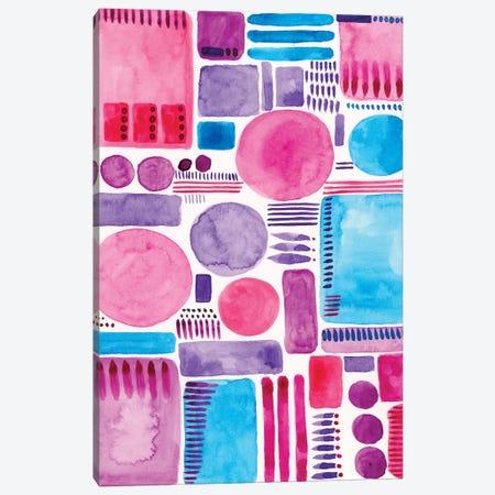 Mod Shapes I Canvas Print #REG26} by Regina Moore Canvas Print