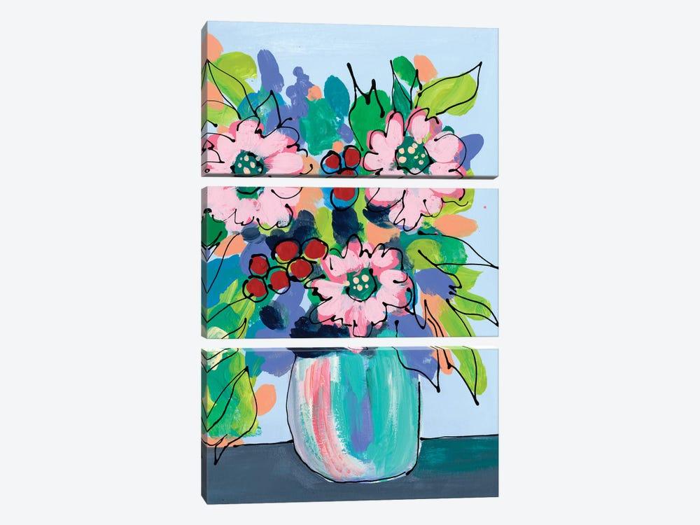 Rowdy Floral I by Regina Moore 3-piece Canvas Artwork