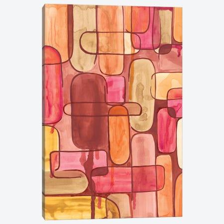 Mod Sunset I Canvas Print #REG28} by Regina Moore Canvas Wall Art