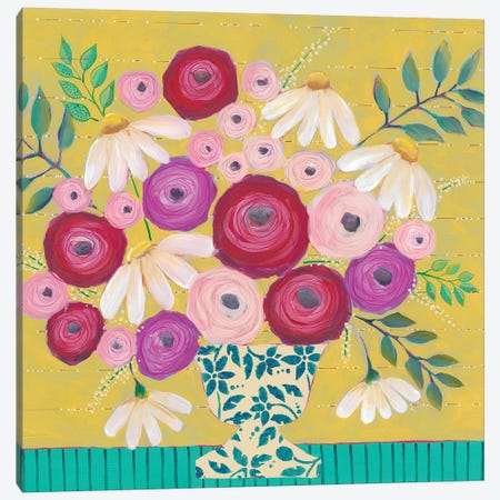 Bold Flowers II Canvas Print #REG293} by Regina Moore Canvas Print