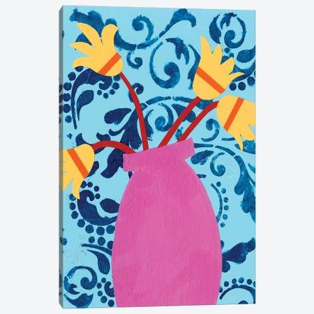 Graphic Vase II Canvas Print #REG297} by Regina Moore Canvas Artwork