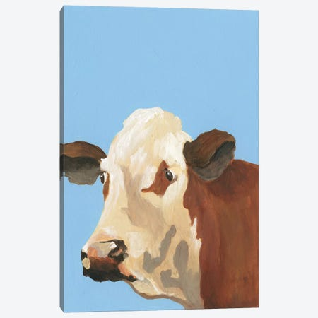 Cow-don Bleu I Canvas Print #REG308} by Regina Moore Canvas Print