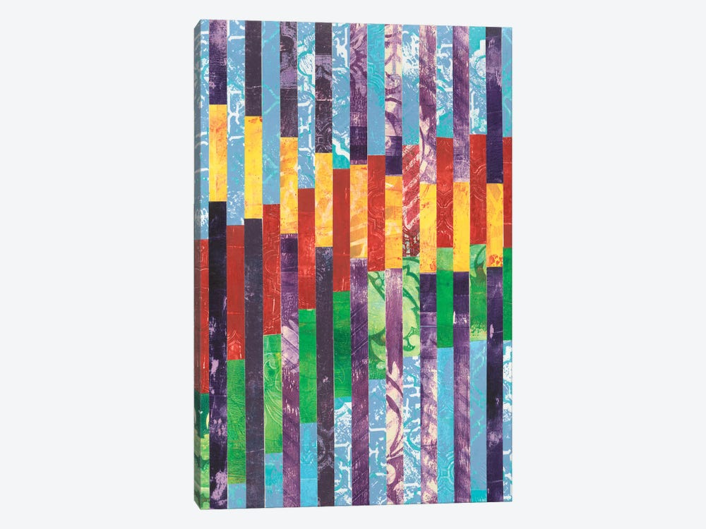Quilted Monoprints I by Regina Moore 1-piece Canvas Print