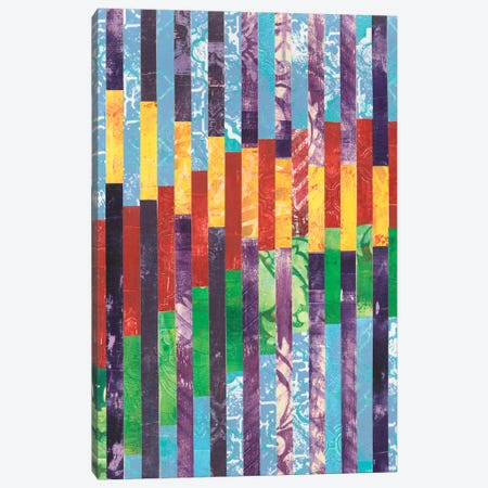 Quilted Monoprints I 3-Piece Canvas #REG30} by Regina Moore Canvas Art Print