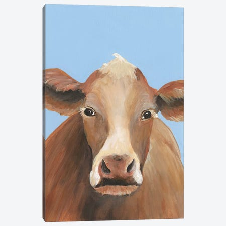 Cow-don Bleu IV Canvas Print #REG311} by Regina Moore Canvas Wall Art
