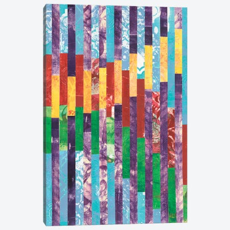 Quilted Monoprints II 3-Piece Canvas #REG31} by Regina Moore Art Print